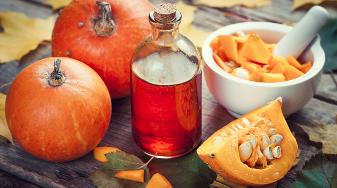 Pumpkin face mask